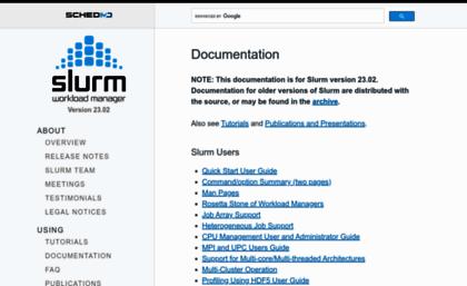 Slurm schedmd com website  Slurm Workload Manager