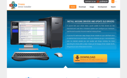 Snappy-driver-installer sourceforge net website  Snappy