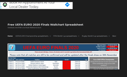 World Cup Excel Spreadsheet 2020.Soccerwallcharts Com Website Free Downloadable Uefa Euro