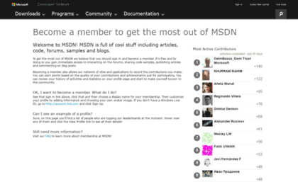 Social msdn microsoft com website  Learn to Develop with