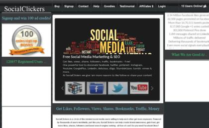 Socialclickers com website  Free facebook likes, Instagram