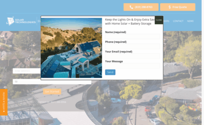 Solartechnologies com website  Solar Technologies | The Bay Area's