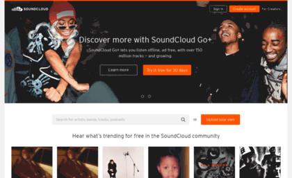 Soundcloud de website  SoundCloud – Listen to free music and