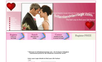 Srilankanmarriage com website    Srilankan Matrimony