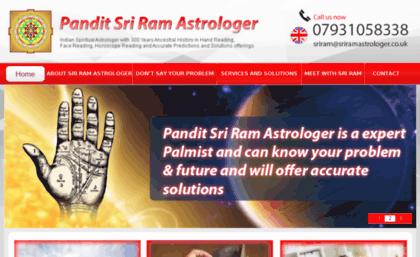 Sriramastrologer co uk website  Indian Vedic Astrology Reading
