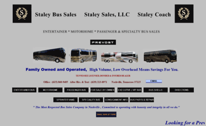 Staleycoach com website  Staley Bus Sales / Staley Coach