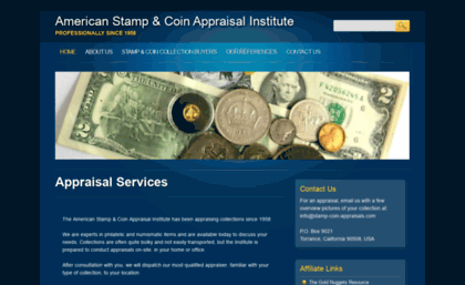 Stamp Coin Appraisals Website Appraisal Services