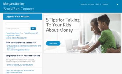 Stockplanconnect morganstanley com website  Morgan Stanley StockPlan