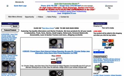 Store alternatorparts com website  High Output Alternators