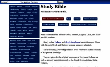 Studybible info website  Study Bible - Online Greek Hebrew