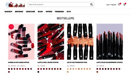 Sugar-cosmetics myshopify com website  SUGAR Cosmetics India