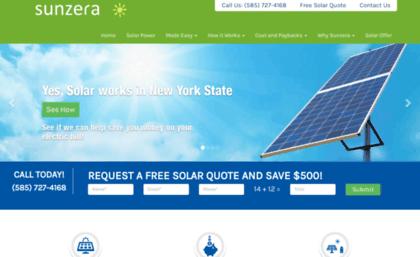 Sunzera com website  Solar Panels, Rochester NY Installers