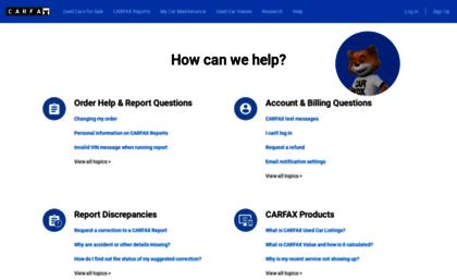 Carfax Customer Service >> Support Carfax Com Website Carfax Customer Support Center