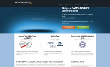 Support samsungimeiunlock com website  SAMSUNG Unlock | Get your