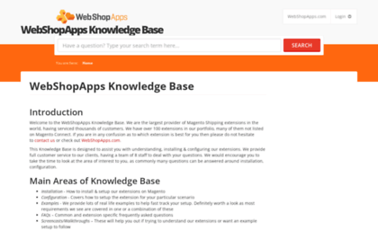 Support webshopapps com website  WebShopApps Knowledge Base