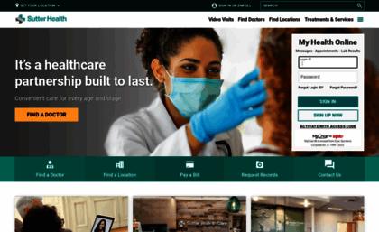 Sutterhealth org website  Sutter Health | Doctors and Hospitals