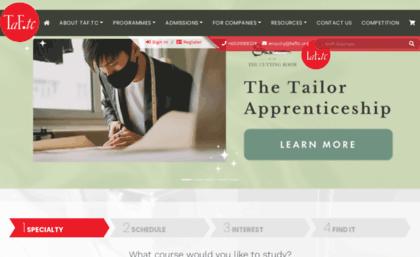 Taftc Org Website Taf Tc Singapore S Fashion Design School Course Provider
