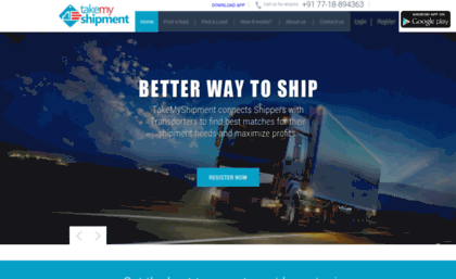 Takemyshipment com website  Top transportation companies, transport