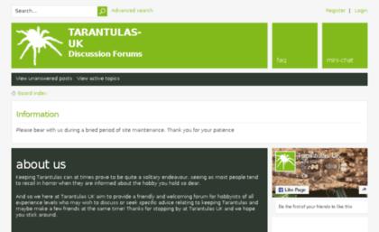 Tarantulas-uk com website  Tarantulas-UK Discussion Forum