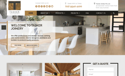 Taskerjoinery com au website  Joinery Specialists in Sydney