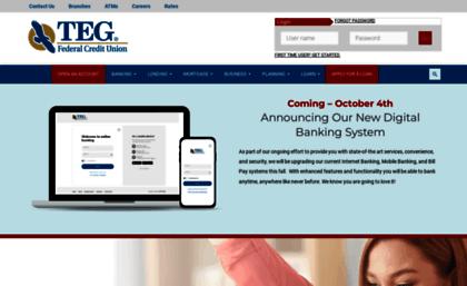 Tegfcu Com Website Teg Federal Credit Union Personal Business
