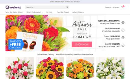 Teleflorist Ie Website Same Day Flower Delivery Across