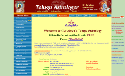 telugu astrologer in usa