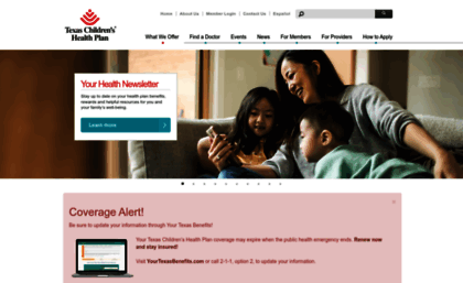 Texaschildrenshealthplan Org Website Texas Children S Health Plan