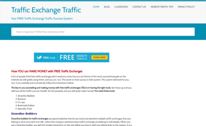 Textraffic com website  How to make FREE Traffic Exchanges