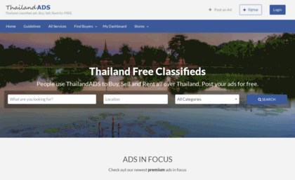 Thailandads com website  ThailandADS – Thailand classified