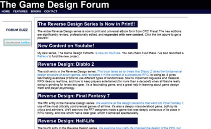 Thegamedesignforumcom Website Game Design Forum Home - Game design forum