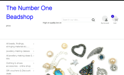 Thenumberonebeadshop com website  The Number 1 Bead Shop