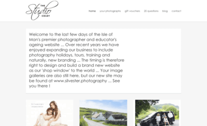 Thestudiocolby com website  Isle of Man Photography - The