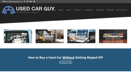 Theusedcarguy Co Uk Website How To Buy A Used Car Car Buying