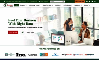 Thomsondata com website  Thomson Data : B2B Mailing List