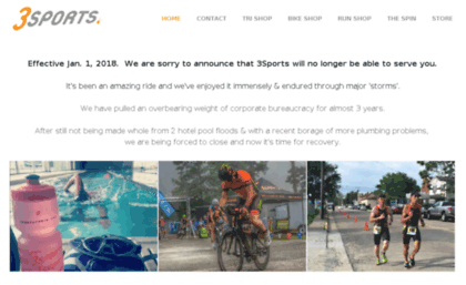 Threesports com website  3Sports: More than just a Bike Shop