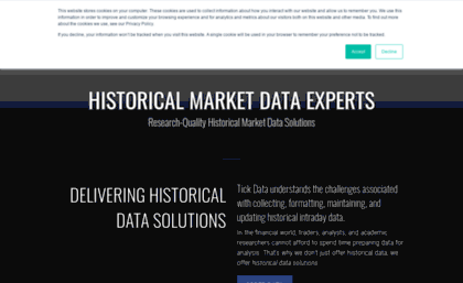 Tickdata com website  Tick Data: Historical Forex, Options, Stock