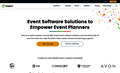 A Beautiful Events Calendar for Your Website Timely
