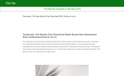 Tn11th In Website Tamilnadu 11th New Books Free Download Pdf Online