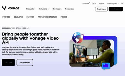 Tokbox com website  OpenTok | WebRTC Platform for Video