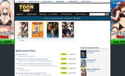 watch anime online websites free