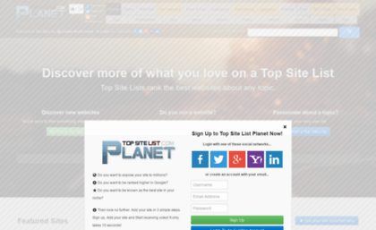 Planet websites