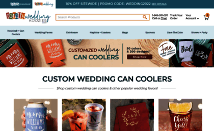 Totally Wedding Koozies.Totallyweddingkoozies Com Website Totally Wedding Koozies
