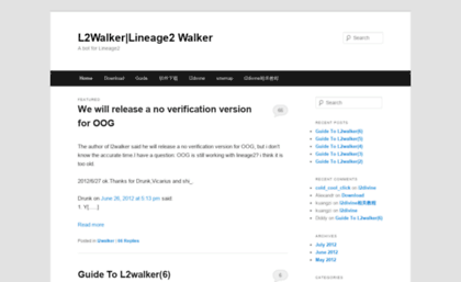 Towalker com website  L2Walker|Lineage2 Walker | A bot for