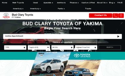 Bud Clary Toyota >> Toyotaofyakima Com Website Toyota Dealer Union Gap Wa New