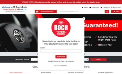 Oem Toyota Parts >> Toyotaparts Bochtoyotasouth Com Website Toyota Oem Parts