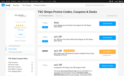 Tsc coupon code