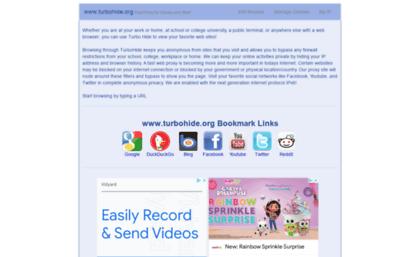 Turbohide org website  TurboHide org | Free USA Anonymous