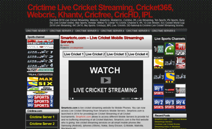 Tvcric Info Website Crictime Live Cricket Streaming