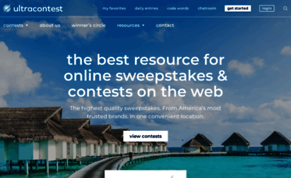 Ultracontest com website  Free Instant Win Sweepstakes and